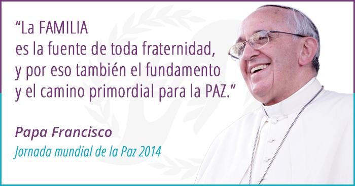 Papa Francisco-La familia fuente de toda fraternidad